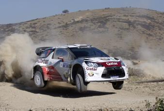 Картинка спорт авторалли rally citroen wrc ралли 2012 ds3 naser al-attiyah qatar пыль
