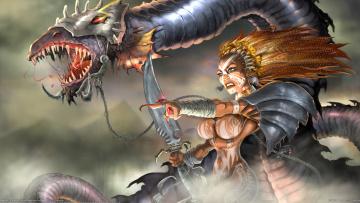 Картинка rb+white фэнтези красавицы+и+чудовища rb white шаманка колдунья дракон