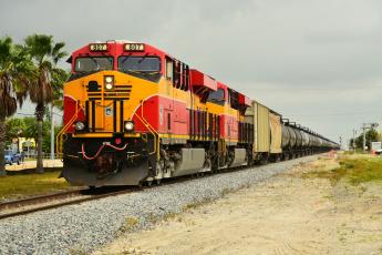 Картинка техника поезда рельсы локомотив состав