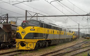 обоя техника, поезда, локомотив, состав, рельсы