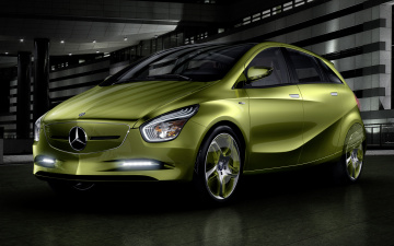 обоя mercedes-benz blue zero  e-cell plus concept 2009, автомобили, mercedes-benz, plus, e-cell, zero, blue, 2009, concept