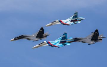 Картинка авиация боевые+самолёты звено