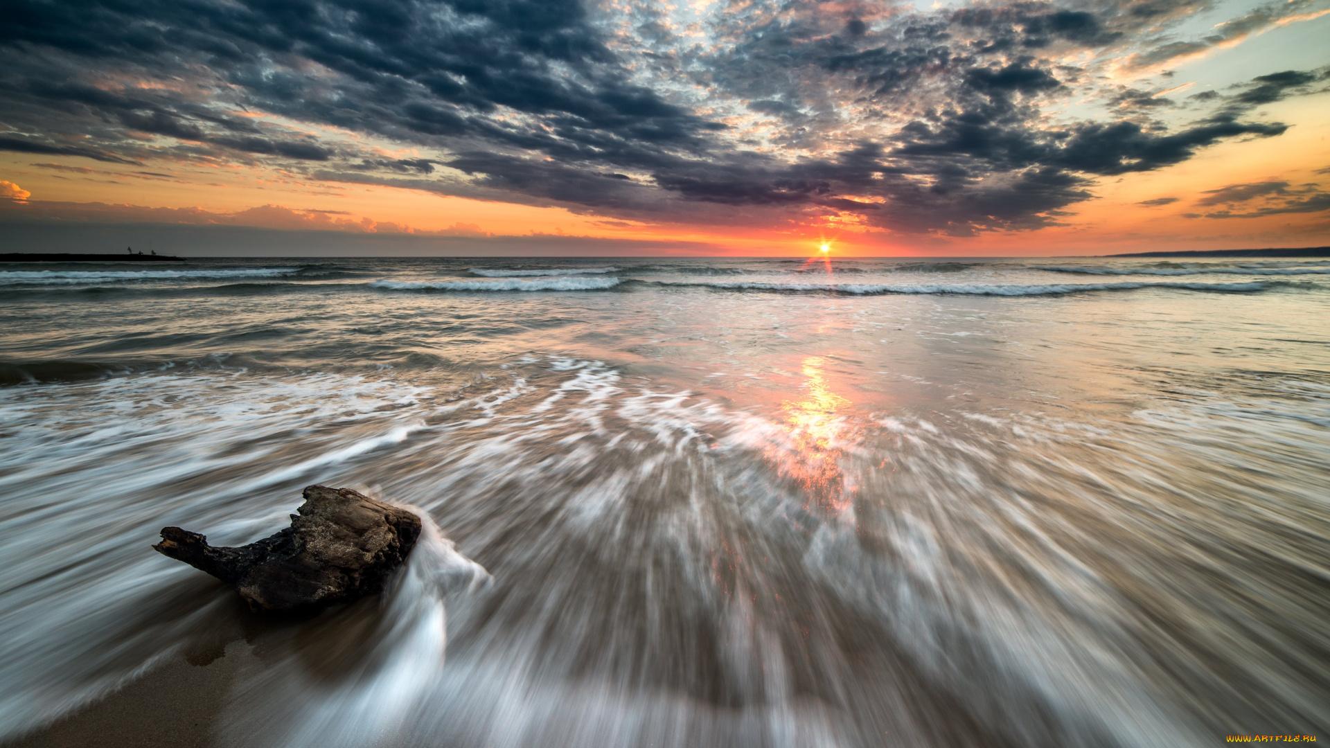 берег закат море загрузить