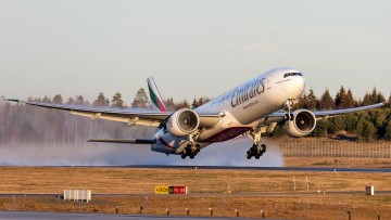 обоя boeing 777-31h, er, авиация, пассажирские самолёты, авиалайнер