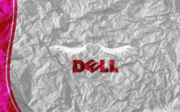 обоя компьютеры, dell, фон, логотип