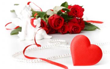 Картинка праздничные день св валентина сердечки любовь цветы розы