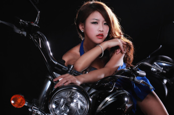 Картинка мотоциклы мото+с+девушкой азиатка