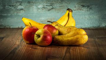 обоя еда, фрукты,  ягоды, яблоки, бананы, груши