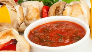 обоя еда, шашлык,  барбекю, соус, мясо