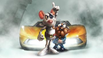 обоя рисованное, животные, автомомбиль, повязка, фон, мышь
