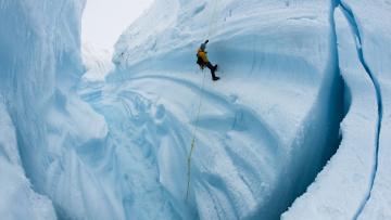 обоя спорт, экстрим, ледник