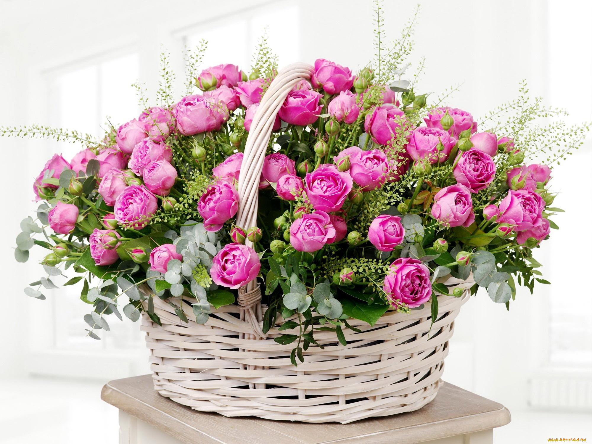 Открытку самому, букет из роз открытка с днем рождения