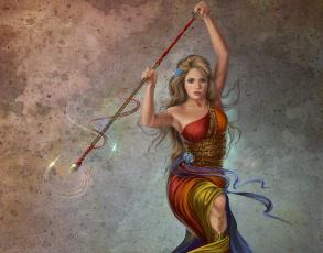 Картинка фэнтези девушки жезл