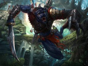Картинка фэнтези существа пантера меч