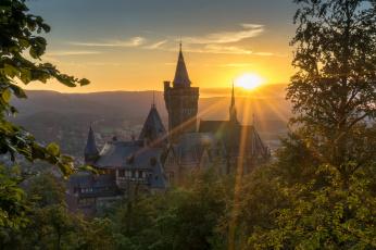 обоя города, - дворцы,  замки,  крепости, рассвет
