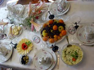 обоя приглашение, столу, еда, сервировка
