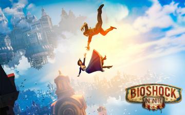 Картинка bioshock infinite видео игры элизабет букер деуитт падение