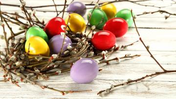 Картинка праздничные пасха пасхальные яйца