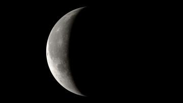 Картинка космос луна фаза земля орбита спутник