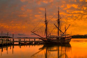 обоя корабли, парусники, стоянка