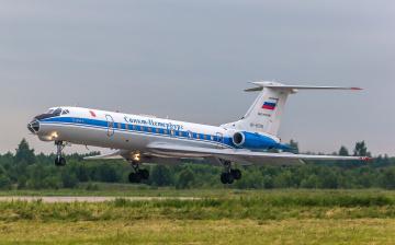 обоя tu-134ak, авиация, пассажирские самолёты, авиалайнер