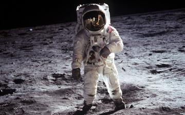 Картинка космос луна космонавт астронавт