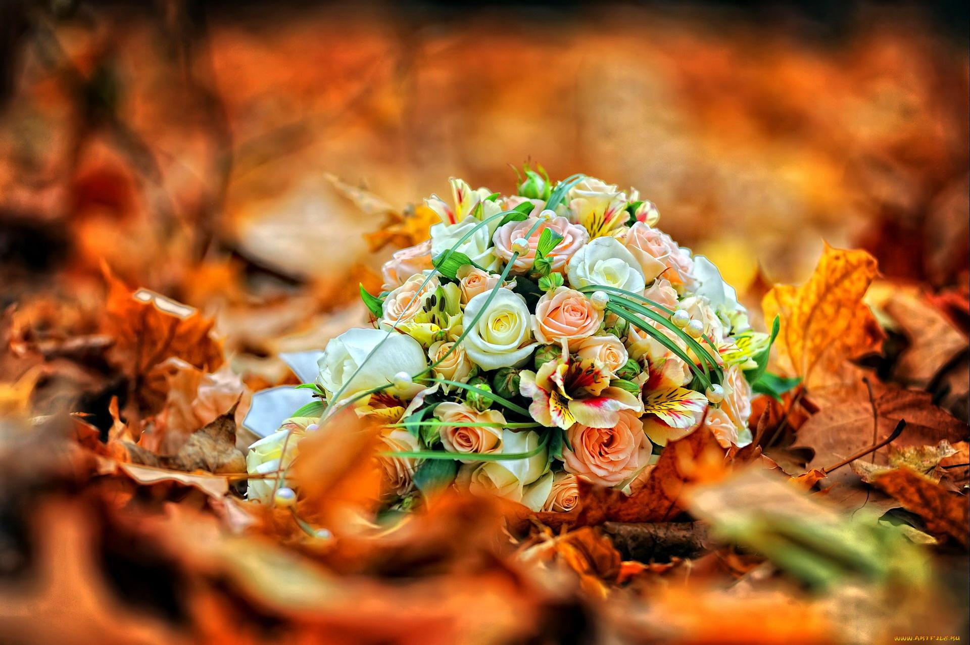 Осенний букет розочки, букет