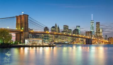 обоя brooklyn bridge  new york city, города, нью-йорк , сша, пролив, мост