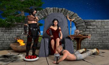 Картинка 3д+графика фантазия+ fantasy фон взгляд девушка