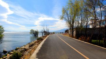 Картинка природа дороги дорога деревья