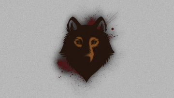 Картинка рисованные минимализм морда волк фон