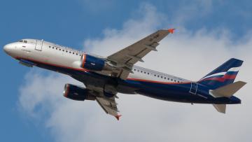 обоя aeroflot airbus 320, авиация, пассажирские самолёты, авиалайнер