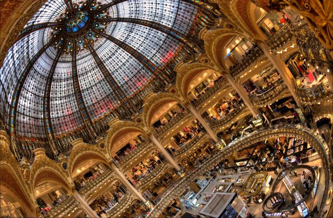 Обои картинки фото интерьер, казино,  торгово-развлекательные центры, франция, париж, магазин, универмаг, галерея, лафайет