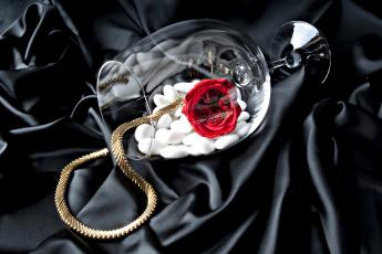 обоя разное, украшения,  аксессуары,  веера, цепочка, бокал, камни, роза