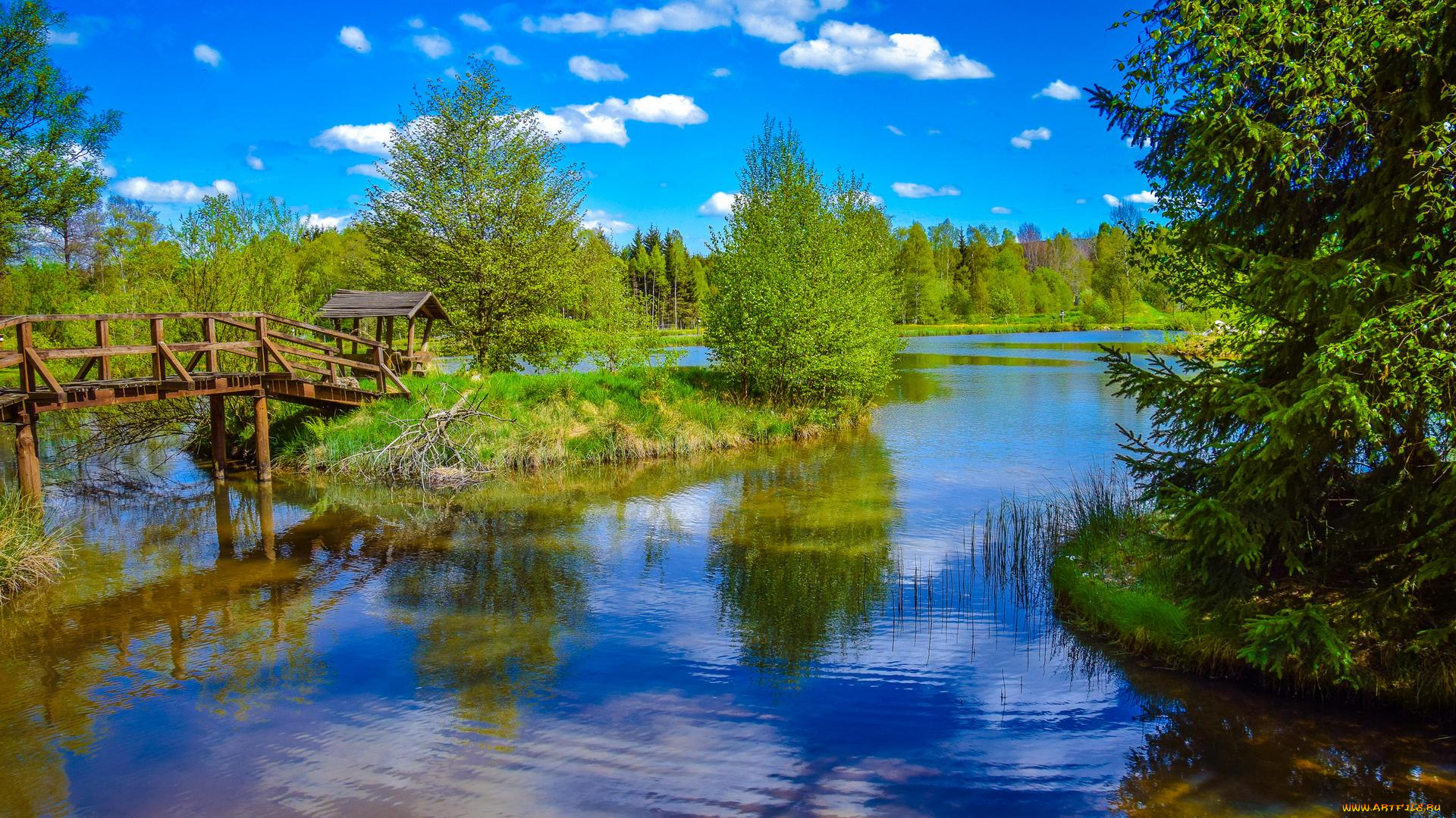 Русский, картинки с речкой природа