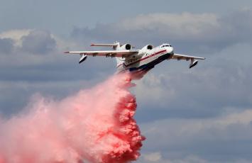 обоя be-200, авиация, самолёты амфибии, гидроплан, пожарный