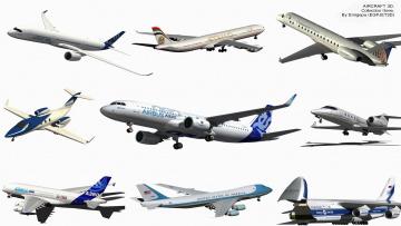 Картинка авиация 3д рисованые v-graphic полет самолеты