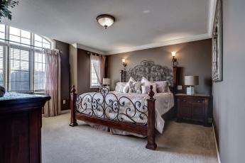 обоя интерьер, спальня, мебель, комната