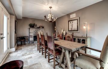 обоя интерьер, столовая, комната, мебель