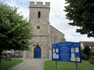 обоя st alphege`s church, whitstable, kent, uk, города, - католические соборы,  костелы,  аббатства, st, alphege's, church
