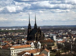 обоя брно, Чехия, города, - панорамы