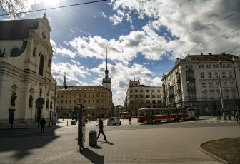 обоя брно, Чехия, города, - улицы,  площади,  набережные