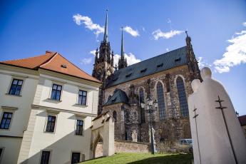обоя брно, Чехия, города, - католические соборы,  костелы,  аббатства