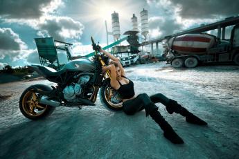 обоя мотоциклы, мото с девушкой, honda