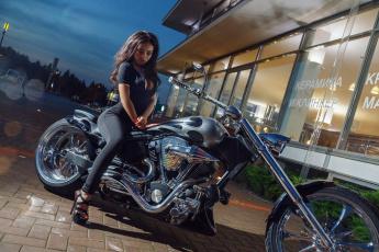 обоя мотоциклы, мото с девушкой, kira, petrova