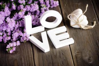 обоя праздничные, день святого валентина,  сердечки,  любовь, любовь, буквы, надпись, сердечки, цветы