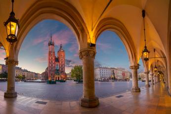 обоя krakow, города, краков , польша, панорама