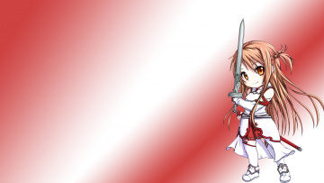 Картинка аниме sword+art+online девушка взгляд фон