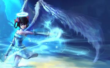 Картинка аниме ангелы +демоны ангел