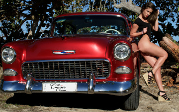 обоя автомобили, -авто с девушками, cadillac, little, caprice